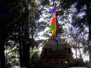 Unwavering flags waving in the crystal clean air